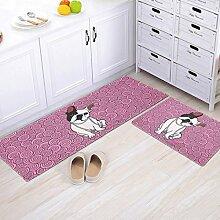 Longshien-Teppich Die Tür rutschfeste Matten Hall Tür Saug Fuß Pad Schlafzimmer Badezimmer Badezimmer mit Küche Badezimmer Matten Türmatten Türmatten ( Farbe : A , größe : 50*120cm )