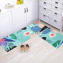 Longshien-Teppich Die Tür rutschfeste Matten Hall Tür Saug Fuß Pad Schlafzimmer Badezimmer Badezimmer mit Küche Badezimmer Matten Türmatten Türmatten ( Farbe : B , größe : 60*90cm )