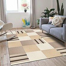 Longshien-Teppich Einfaches modernes Wohnzimmer rechteckiger geometrischer Teppich Türmatten ( Farbe : 2 , größe : 1200*1600mm )