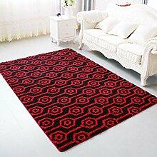 Longshien-Teppich Europäischer Stil Einfache Wohnzimmer Teppich Farbe Größe Optional Türmatten ( Farbe : 7 , größe : 100*150cm )