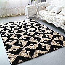 Longshien-Teppich Europäischer Stil Einfache Wohnzimmer Teppich Farbe Größe Optional Türmatten ( Farbe : 6 , größe : 100*150cm )