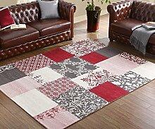 Longshien-Teppich Im europäischen Stil Wohnzimmer rechteckiger Teppich 76 * 120cm Türmatten ( Farbe : 4# )