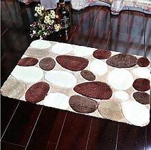 Longshien-Teppich Maschine waschbar Badezimmer Badezimmer Schlafzimmer Teppich Matratzen Matratzen rutschfeste Matten Teppiche Home Eingang Matten Türmatten ( Farbe : A , größe : 60*90cm )