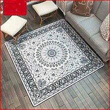 Longshien-Teppich Modernes Wohnzimmer Einfache Box Teppich 101 * 101cm Türmatten ( größe : 150*150cm )