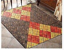 Longshien-Teppich Modernes Wohnzimmer Mit Waschbarer Teppich Drei Farben Türmatten ( Farbe : 3 , größe : 160*200cm )