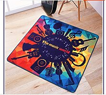Longshien-Teppich Personalisierte kreative Musik Schlafzimmer Teppich Türmatten ( Farbe : 150*150cm )
