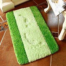 Longshien-Teppich Schlafzimmer Küche Badezimmer Anti - Skid Pad Absorbent Pad Türmatten ( Farbe : Grün , größe : 60*90cm )