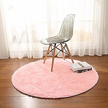 Longshien-Teppich Schlafzimmer Wohnzimmer Runde Farbe Teppich Yoga Matten Türmatten ( Farbe : 7 , größe : 80cm )