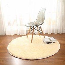Longshien-Teppich Schlafzimmer Wohnzimmer Runde Farbe Teppich Yoga Matten Türmatten ( Farbe : 5 , größe : 140cm )
