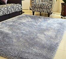 Longshien-Teppich Stretch lange Haare Schlafzimmer Wohnzimmer Sofa Couchtisch Teppich Türmatten ( Farbe : 4 )