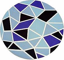 Longshien-Teppich Stylish Round Living Room Teppich Größe Farbe Optional Türmatten ( Farbe : 4 , größe : 160*160cm )