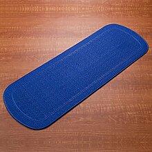 Longshien-Teppich Tasteless Badezimmer Anti-Rutsch-Baden Baden Dusche Saugmatten Massage Ottomans Bad Mat Boden Türmatten ( Farbe : Blau )