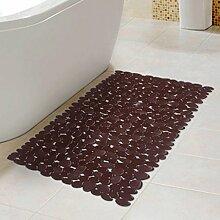 Longshien-Teppich Tasteless Große Badezimmer Anti-Rutsch-Bad Dusche Pvc Fuß Pad Badezimmer mit einem Saugnapf Kunststoff Mat Matten Türmatten ( Farbe : Metallic )