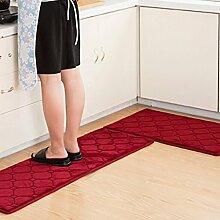 Longshien-Teppich Teppich Tür Küche Badezimmer mit Schlafzimmer Sliver Pad Kind Badezimmer Türmatten Badematten Türmatten ( Farbe : D , größe : 40*120cm )
