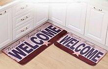 Longshien-Teppich Teppich Türmatten Fußpolster Das Badezimmer ist wasserdicht Wildleder Stoff Mats Eintrag Pad Schlafzimmer Wohnzimmer Fuß Pad Türmatten ( größe : 50 × 120cm )