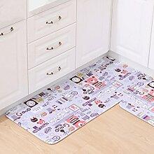 Longshien-Teppich Teppich Türmatten Fußpolster Das Badezimmer ist wasserdicht Wildleder Stoff Mats Eintrag Pad Schlafzimmer Wohnzimmer Fuß Pad Türmatten ( größe : 50 × 180cm )