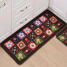 Longshien-Teppich Türmatten Badezimmer Wasserdichte Matte Küchenmatten Türmatten Türmatten ( Farbe : C , größe : 60 × 90cm (thick type) )