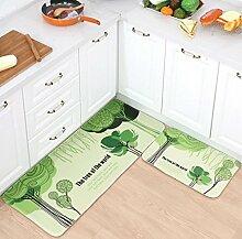 Longshien-Teppich Türmatten Badezimmer Wasserdichte Matte Küchenmatten Türmatten Türmatten ( Farbe : A , größe : 50 × 120cm (thick type) )