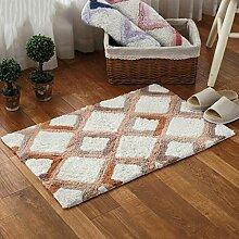 Longshien-Teppich Türmatten Baumwolle Chenille Schlafzimmer Bedside Matten Kissen Badezimmer Bad Matten Türmatten ( Farbe : A )