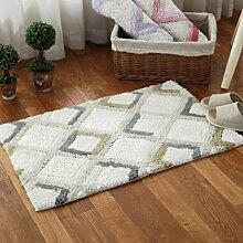 Longshien-Teppich Türmatten Baumwolle Chenille Schlafzimmer Bedside Matten Kissen Badezimmer Bad Matten Türmatten ( Farbe : D )