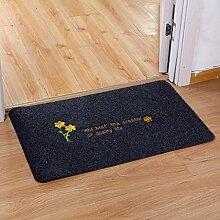 Longshien-Teppich Türmatten Home Eingang Matte rutschfeste Matte Türmatten ( Farbe : Blau , größe : F )