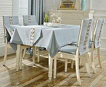 Longshien Tischdecke rechteckige quadratische Tischdecke Tischdecke ( Farbe : Hellblau , größe : 140*240cm )