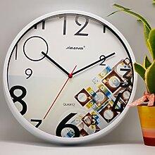 Longshien Wanduhr Uhren Mute Kreative Wanduhr Mode Garten Hängetisch Wohnzimmer Uhr Wanduhr Wanduhr