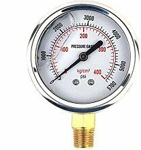 LONGWDS Luftdruckmesser 1/4 NPT männlich
