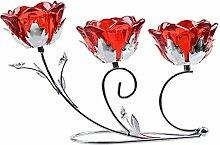 LONGWIN Kerzenhalter Glas Kandelaber für