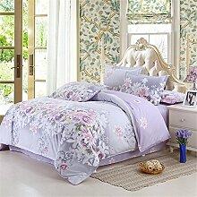 LongYu Mehrfarbig Bedruckte Bettbezüge für