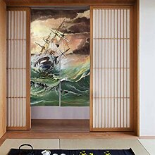 LONGYUU Falttür Vorhänge Eine Illustration eines