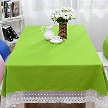Longzhi Candy Farbe Baumwolltuch Tischdecke Tischdecke Tischdecke Bugab Kaffee Tischdecke E 140 * 180 Cm.