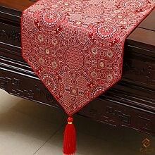 Longzhi chinesischen klassischen Garten Pflaume Tischdecke Geschenk Tischdecke 1 B 33 * 200 Cm.