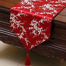 Longzhi chinesischen klassischen Garten Pflaume Tischdecke Geschenk Tischdecke W 33 * 230 Cm