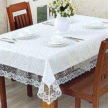 Longzhi Continental Stoffen ökologische Rutschfeste Tischdecke 120*160 cm Esstisch