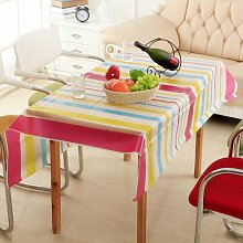 Longzhi Continental Tischdecke wasserdicht Ölbeständig Tischdecken Couchtisch Tuch Peva Kunststoff Temperaturbeständig ein 130 * 140