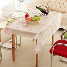 Longzhi Continental Tischdecke wasserdicht Ölbeständig Tischdecken Couchtisch Tuch Peva Kunststoff Temperaturbeständig B 130 * 180