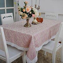 Longzhi einfachen modernen westlichen Esstisch Tuch großen runden Tisch Tuch Tuch Kunst Haushalt Tischdecke B 90 * 90