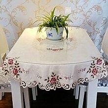 Longzhi europäischen Stil Garten Stil bestickte Tischdecke Tischdecke Home Struktur B * 56 56