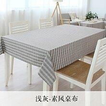 Longzhi frische kleine Baumwolle Tischtuch rechteckige Gitter pastorale Nordic Tischdecke Decken Bettwäsche hellgrau 140 * 140 cm
