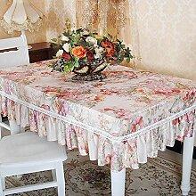 Longzhi High-End-Garten Stil Kaffee Tisch Tischdecke Tischdecke Tuch Tuch B 130 * 180 Cm.