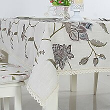 Longzhi im amerikanischen Stil, bestickte Bettwäsche Tischdecken Stoff Tischdecke Tischdecke B 140 * 210 Cm.