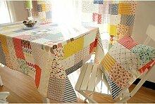 Longzhi Imitation Patchwork Candy farbige Baumwolle Leinen Tischdecke koreanische Tisch Tischdecke Tischdecke 60*60 Cm