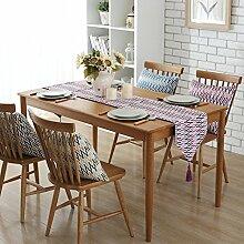 Longzhi Nordic Einfache moderne Tischdecke Tischdecke Table Table Runner C32 * 160 Cm