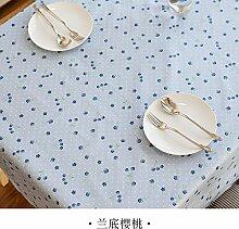 Longzhi PVC wasserdicht Tuch Bügeltisch Tuch Tuch Einwegflaschen aus Plastik Tischdecke Tischdecke rechteckige Schlafsaal Landi cherry 140 * 140 cm