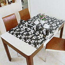 Longzhi Schwarz Pvc Wasserdicht verfügbare Soft Glas Tisch Matte Tischdecke Crystal Board Tischdecke B 135cm 80 *