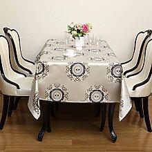 Longzhi Tischdecke im Europäischen Stil, Luxus Tischdecke Tuch Kunst amerikanische Tischdecke ein 140 * 200 Cm