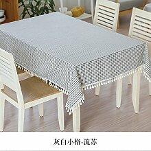 Longzhi Tischdecken Tischdecke Tisch Tischdecke Tuch Tuch runde kleine Frische Garten F 140 * 140 Cm