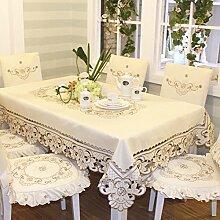 Longzhi Tuch Tuch bestickte Tischdecke Tischdecke Tischläufer einfache Sitzkissen Die 57*74