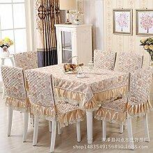 Longzhi Wasserdicht Baumwolle Tischdecken Multi-Household wasserfeste Tischdecke B 150*150 Handtuch